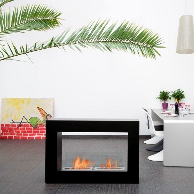 Qube Bio Ethanol Fuel Fireplace Finish: Black, Size: Small - Black (Steel), Outdoor Décor