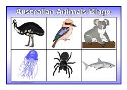 Australian animals bingo (SB7814) - SparkleBox