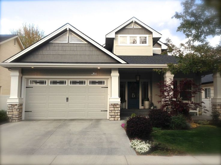 Exterior Paint Sherwin Williams Dark Gray Gauntlet Gray 7019 Light Gray Mindful Gray 7016
