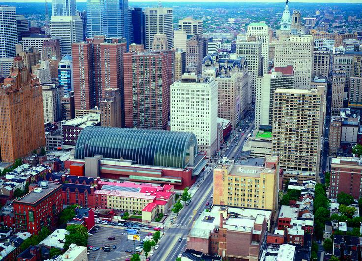 Kimmel Center for the Performing Arts | Rafael Viñoly Architects | Aerial view. Photo: Jeff Goldberg / Esto