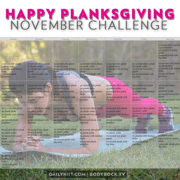 Happy Planksgiving November Ab Challenge. Great way to start off the holiday season healthy!