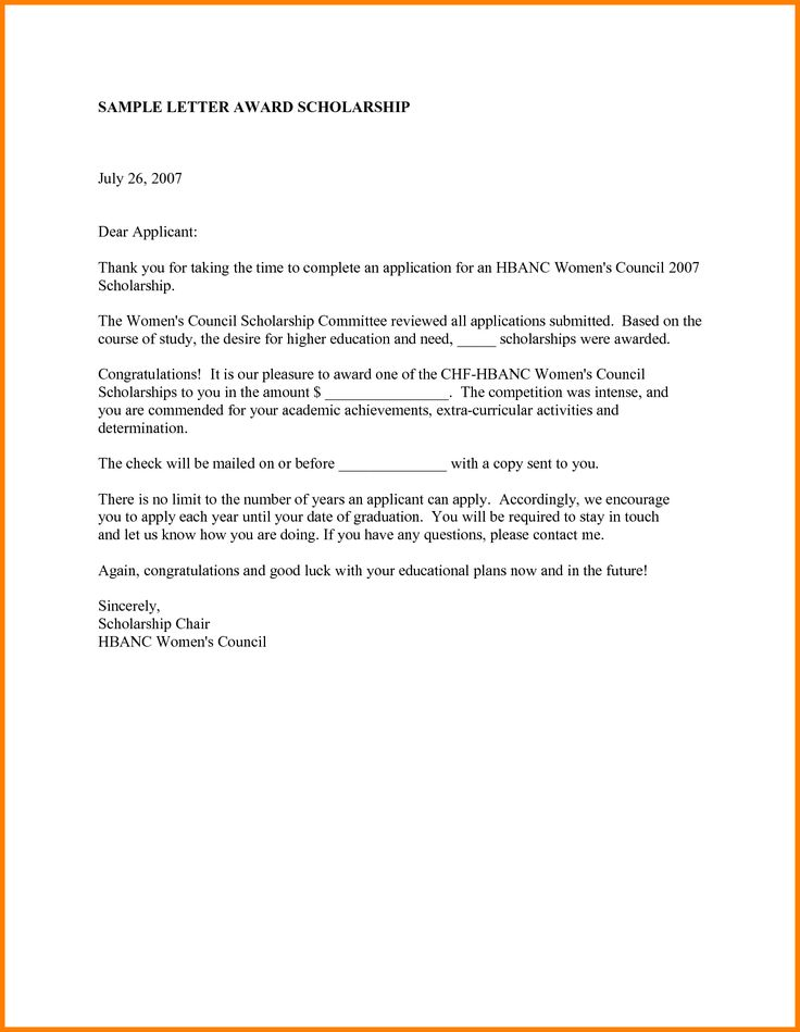thank you letter sample for scholarship award application letters free word pdf documents download