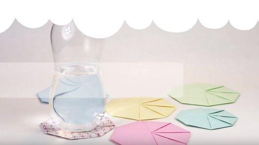Sotto bicchieri in carta origami – Tutorial.   Cucito Creativo   Bloglovin'
