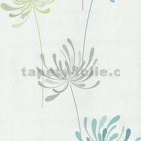 Vliesové tapety na zeď Novara květy tyrkysové