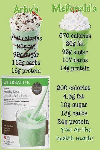 Herbalife shakes are a healthy and yummy way to lose weight! Skip the fast food shake and opt for this healthy shake