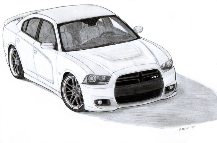 2012 Dodge Charger Srt8 Drawing By Vertualissimo