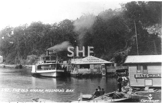 Mosman Bay wharf with NELLIE (1877). - Sydney Heritage Fleet