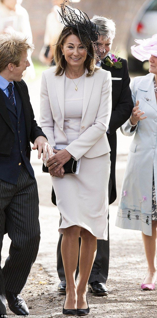 Role model: Carole Middleton is the leading example of a middle-aged woman we see over and over in age-appropriate event mode