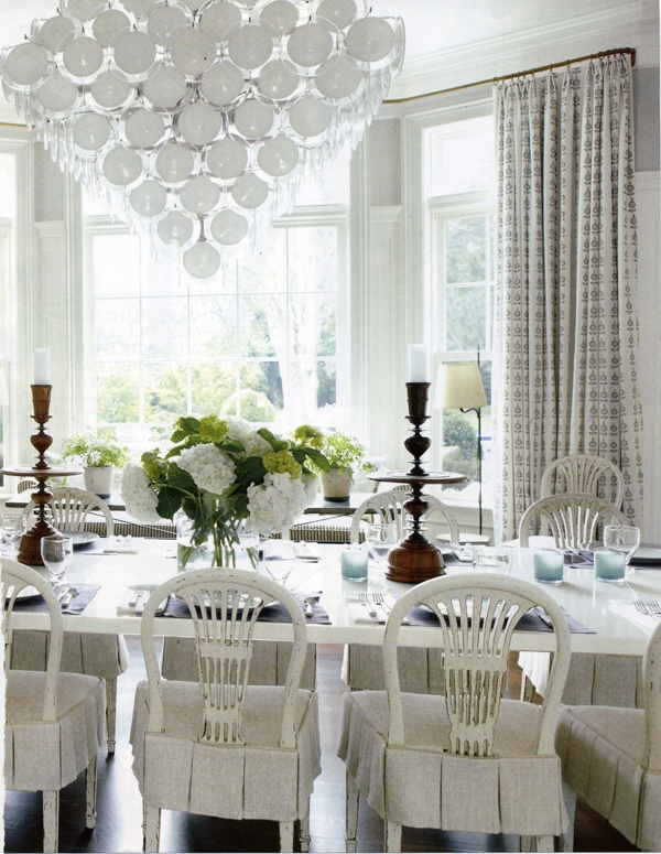 Antique drapery rod veranda magazine bay window treatment pinterest curtain rods - Veranda dining rooms ...