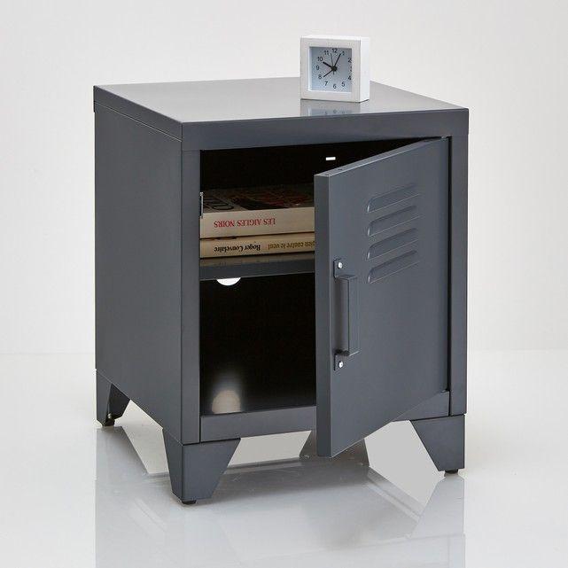 Nachtkastje in metaal met 1 deur Hiba. Veel allure voor dit klein meubeltje, uitgevoerd in een gamma van leuke en trendy kleuren, industriële stijl.Omschrijving :1 deur.1 uitneembare legplank aan de binnenzijde.Eigenschappen :Metaal bedekt met epoxy verflaagje.Ontdek de volledige Hiba collectie op laredoute.beAfmetingen :Totaal :Breedte : 40cmHoogte : 50 cmDiepte : 40cmLegplank: B35,6 x D39,7 cmPoot : H8,5 cmMonteerklaar geleverd. Levering aan huis na afspraak.