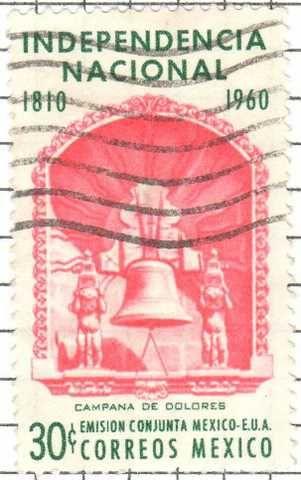 timbre campana de dolores mexico 1960 correo mayor