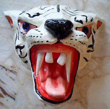 Hand-Made Papier Mache White Tiger Mask-Panama Chitre-16010717L