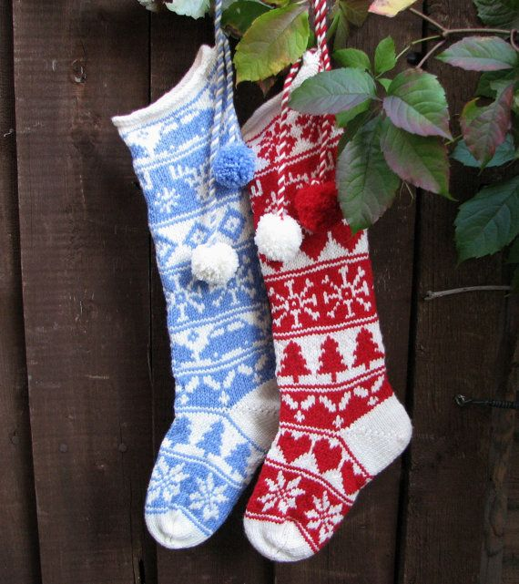 35 Best Christmas Stockings Images On Pinterest Knitted Christmas