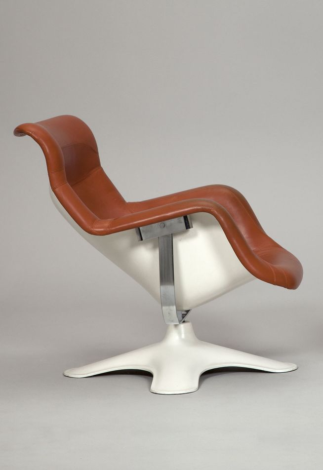 Yrj kukkapuro easy chair karuselli with ottoman 1960 for Unique sitting chairs