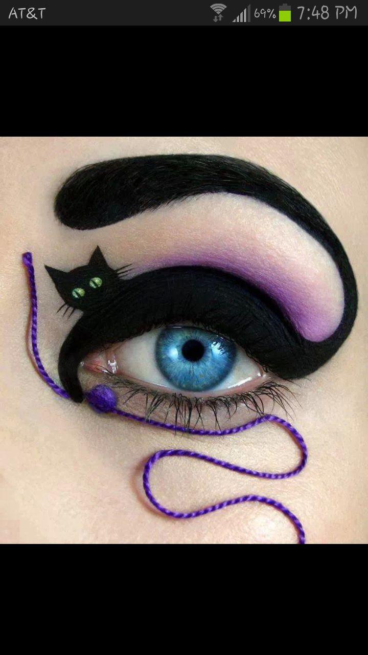Halloween eye makeup ideas  - Halloween - cat - makeup  #halloween