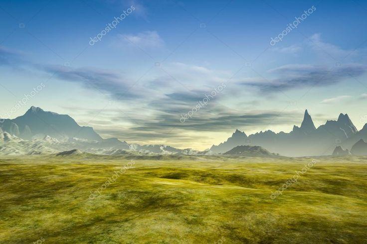 Stáhnout - Barevné fantasy krajina — Stock obrázek #120454080