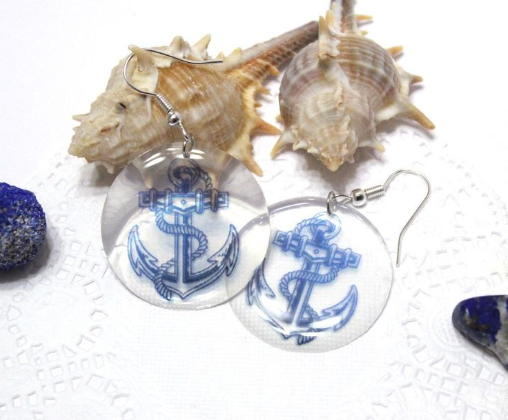 A personal favourite from my Etsy shop https://www.etsy.com/listing/228412193/transparent-anchor-earrings-anchor