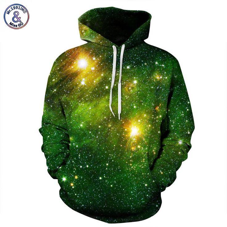 Nice Stylish Men/Women 3D Printed Green Space Sweatshirt //Price: $39.45 & FREE Shipping //     #3dhoodie