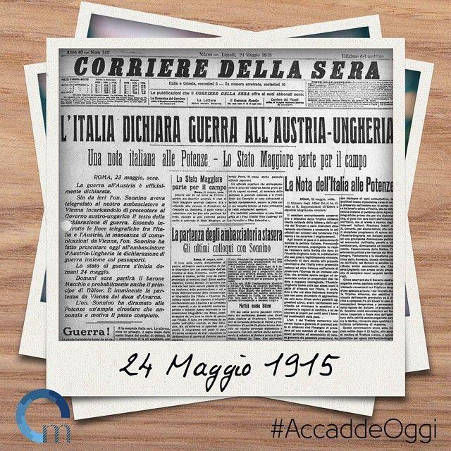Il #24maggio del 1915 anche l'#Italia entra in #guerra