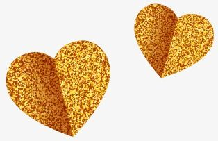 Golden Heart texture, Golden, Textured, Heart PNG and Vector