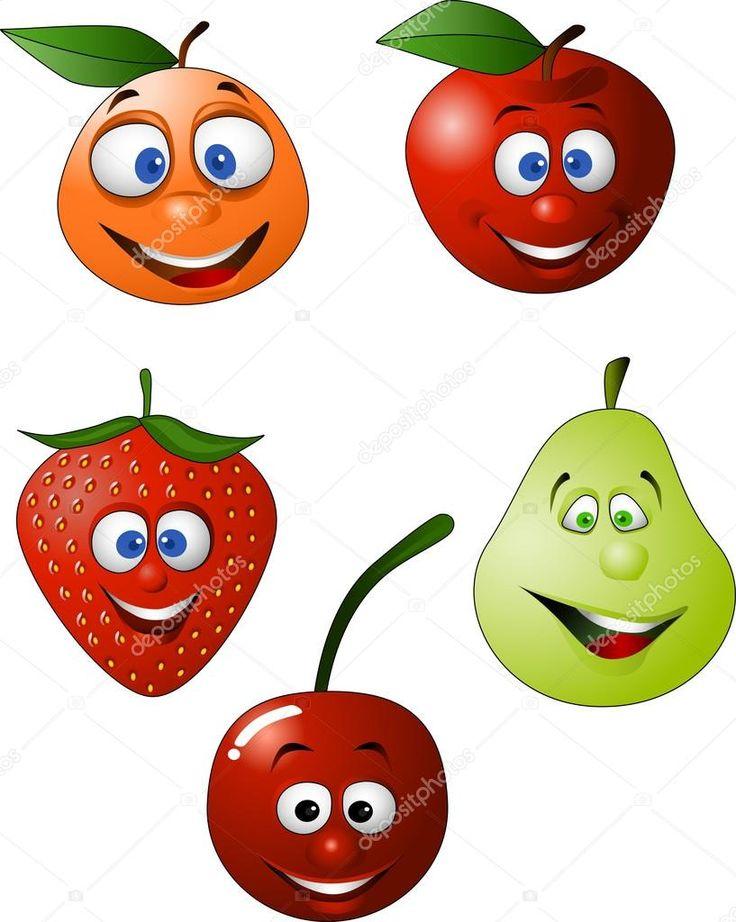 Baixar - Desenhos animados engraçados fruta — Ilustração de Stock #2665274