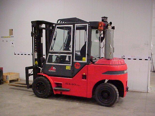 Begagnade truckar och motviktstruckar för materialhantering