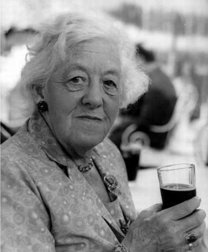 Margaret Rutherford.  Isn't it Dame Rutherford?  If not, it should be.  She was one of the funniest ladies I've ever seen perform.