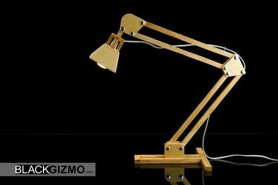 Wooden Table Lamp DL015 by blackgizmo on Etsy