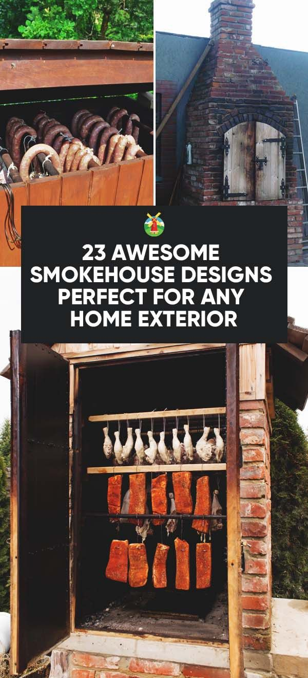 23 Awesome Diy Smokehouse Plans You Can Build In The Backyard Smokehouse Smoker Plans Smoke House Plans