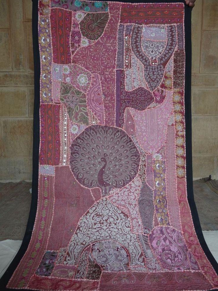 banjara Indian Traditional Tapestry sari Patchwork Embroidered Wall Hanging #Handmade