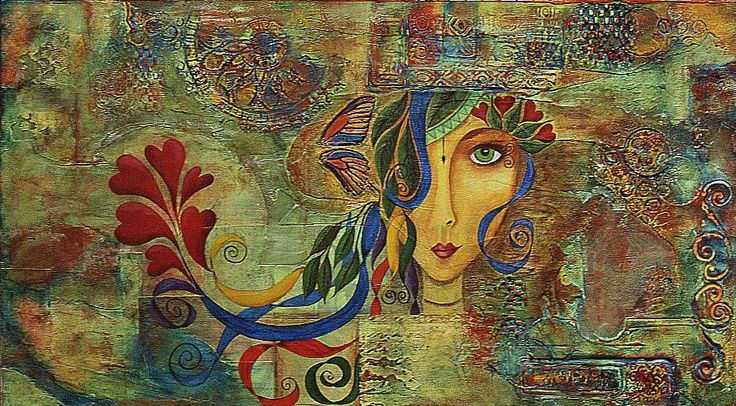 Mixed Media - 'Valentina' by Kim Lovett