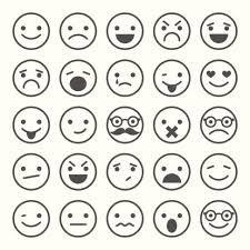 smiley triste noir et blanc Recherche