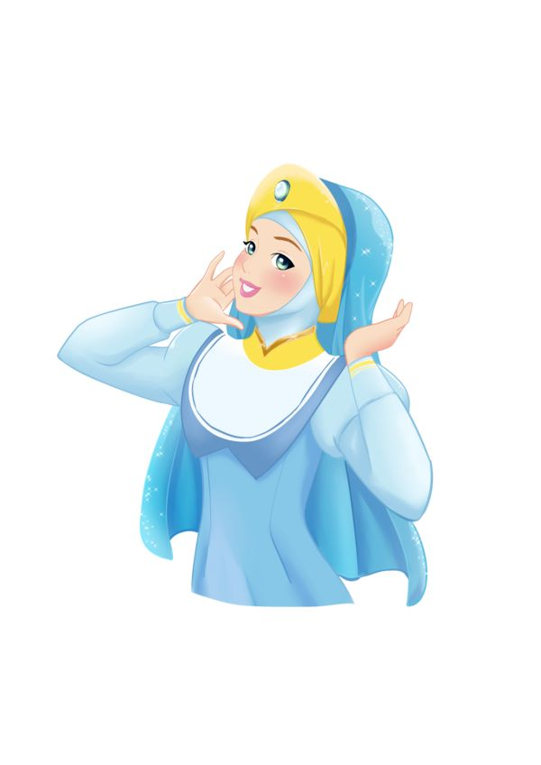 Cinderella Hijab ~ Commission by ainosora on DeviantArt