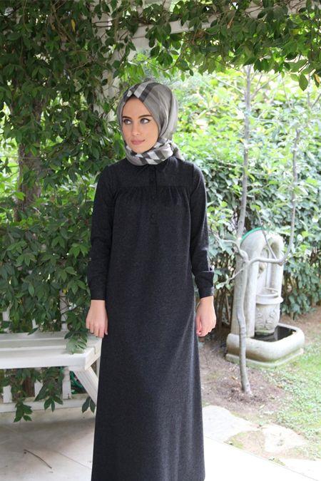 14d78ab682c7f Tesettür Robalı Penye Elbise Modelleri | Tesettür | Elbise modelleri ...
