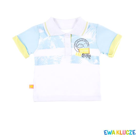 EWA KLUCZE, kolekcja SUMMER TIME, koszulka polo, wiosna lato 2017, ubranka dla dzieci, EWA KLUCZE, SUMMER TIME collection, baby boy polo, spring summer 2017