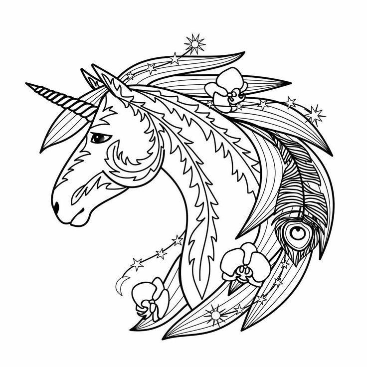 ausmalbilder einhorn mandala mandala unicorn einhorn