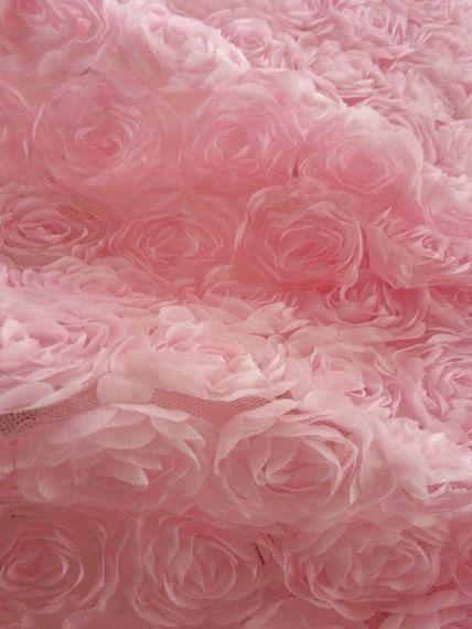 pink chiffon roette fabric