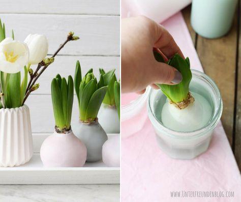 Laten we gaan! Laten we wat flower power en lentefrisheid brengen in deze …  – Frühlingsdeko