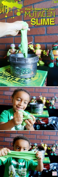 Soiree Event Design | Ninja Turtles Party Ideas – Make Ninja Turtles Mutagen Slime! | http://soiree-eventdesign.com