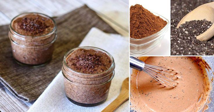 POSTRE DE Cacao y Chia. Combina el sabor del chocolate con todas las propiedades de las semillas de chia a través de esta receta fácil y súper saludable. Lee más en La Bioguía.