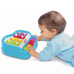 Baby Piano for music explorations! #babies