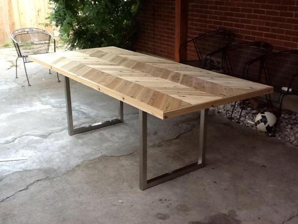 DIY dining table using Ikea's Vika Moliden legs Kerri Menchaca - Blog - Cedar outdoor table