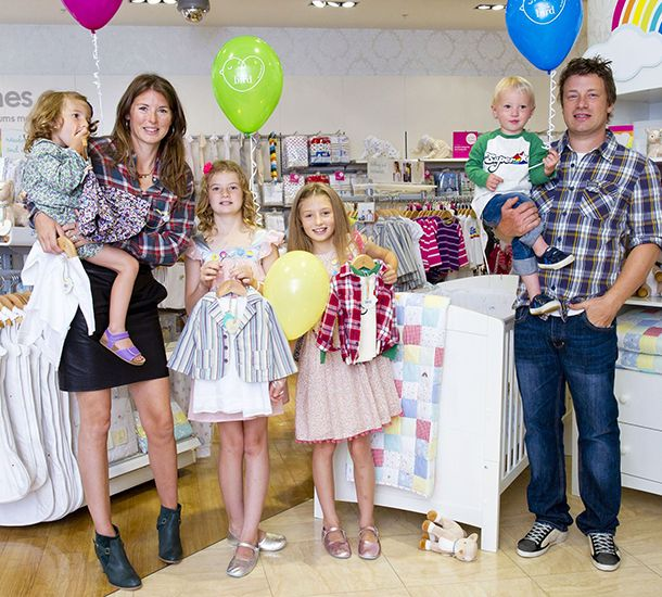 Jamie and Jools, who married in July 2000 after dating for seven years, are parents to daughters Poppy Honey Rosie, 12, Daisy Boo Pamela, 11, Petal Blossom Rainbow, five, and four-year-old son Buddy Bear Maurice.