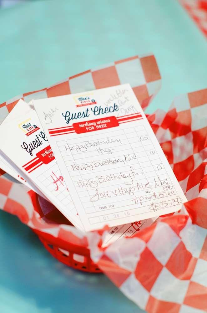 50's Diner Soda Shop Retro Birthday Party Birthday Party Ideas | Photo 10 of 32 | Catch My Party