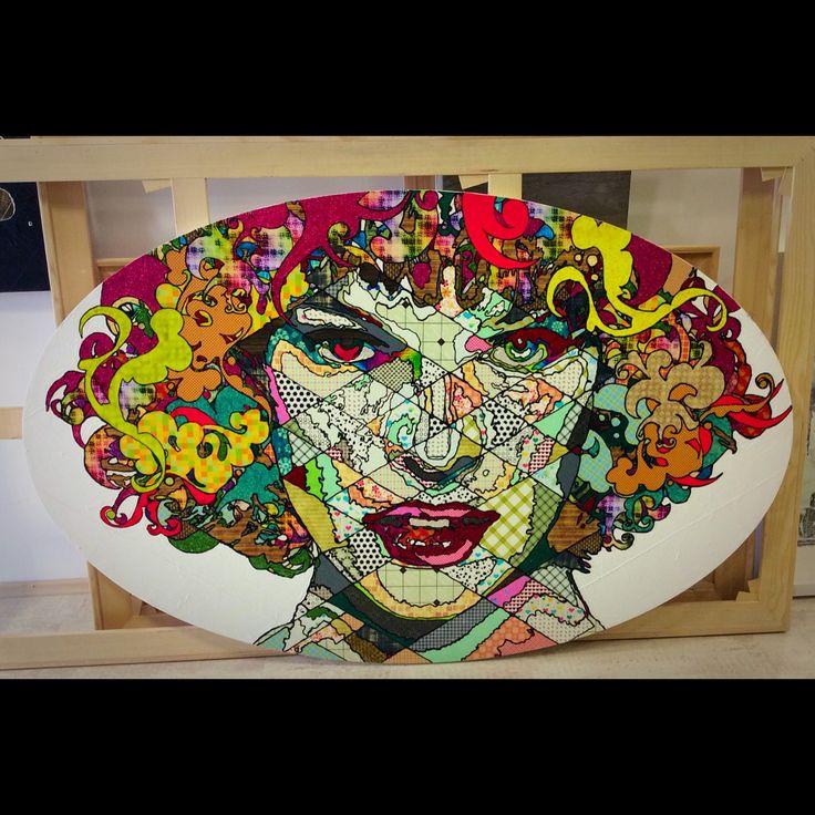 """Pınar Dupre """"Milla"""" 115x180cm/mixed media on canvas/2014"""