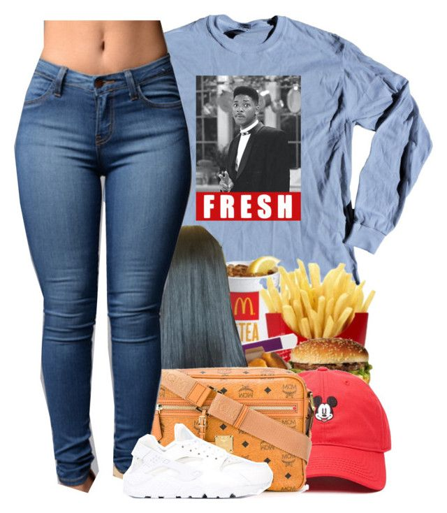 """""""fяєѕн ρяιи¢є """" by blvsiian ❤ liked on Polyvore featuring Forever 21, MCM and NIKE"""