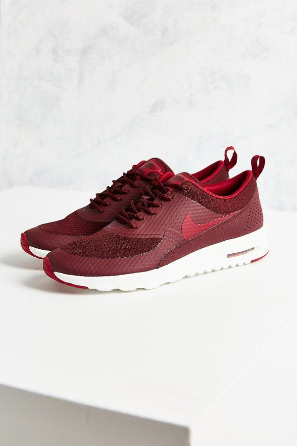 Burgundy Nike Thea Textile Sneaker on Shopstyle.