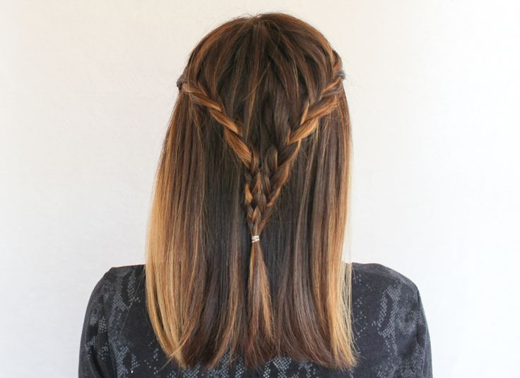 Half-French Braided Half Up