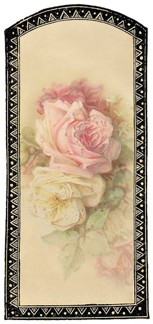 """""""Vanilla and Roses"""" ~ free gift tag or label"""
