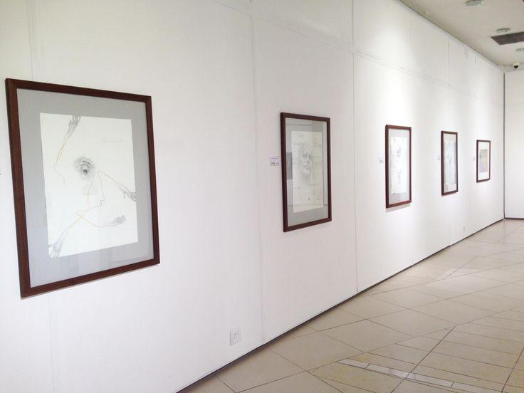 Unisa Art Gallery - CANSA Art Exhibition - Artworks by Judith Mason - Photograph by Megan Erasmus